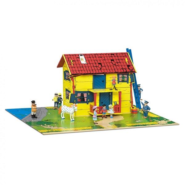Villa Kakelbont Poppenhuis.Villa Kakelbont Compleet Met Meubeltjes Pippi Poppen En Speelmat