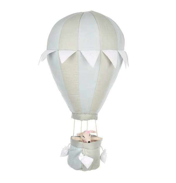 Decoratie Luchtballon Dusty Mint