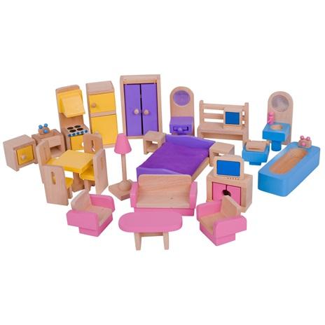 Bigjigs Poppenhuismeubeltjes.Volledige set voor alle kamertjes: https://www.ellysspeelgoedkraam.nl/lieve-houten-huisjes...
